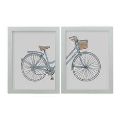 Conj. Quadro Ilustração Bicicleta na loja Os Acessórios Decor