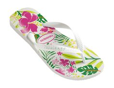 The Hawaiian floral pattern and bright colors make this style a must-have for any tropical getaway.