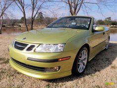 Saab Lime Yellow Metallic- love this color too bad saab only used it for a short time. :(