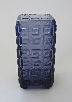 Tamara Aladin; Glass 'Talaari' Vase for Riihimaen Lasi, 1970s.