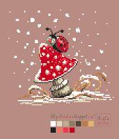 Мои творилки *** Aliolka design: Первый снег. Божья коровка.