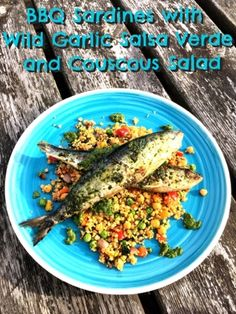 Foodie Quine: BBQ Sardines with Wild Garlic Salsa Verde and Couscous Salad
