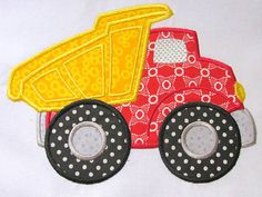 Construction Truck 01 Machine Applique Embroidery by KCDezigns, $3.50