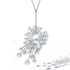 Tasaki, Daydream pendant, white gold, platinum, South Sea pearl 14.0mm, freshwater pearl 2.5 ~ 4.0mm, diamonds