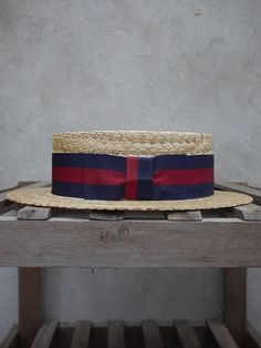 Guards Straw Boater. Olney.