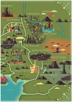 The Realms of Middle Earth - Created by MUTI Studio (They misspelled Erebor....)