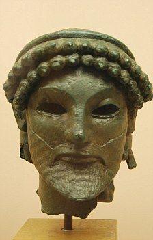 The head of a bronze statue of Zeus