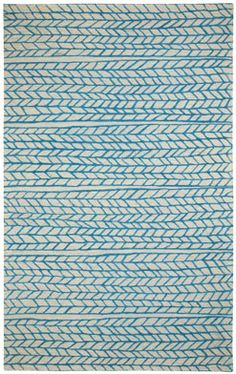 Ancient Arrow in stone azure is brand new from @genevieve gorder. We love the imperfect, hand-drawn lines. #capelrugs