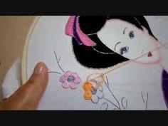 Bordado Fantasía Flores Geisha - YouTube