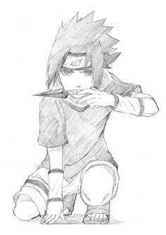 Sasuke Uchiha (Not my drawing) Sasuke Drawing, Naruto Sketch Drawing, Naruto Drawings, Anime Drawings Sketches, Anime Sketch, Manga Drawing, Anime Naruto, Fan Art Naruto, Naruto Sasuke Sakura