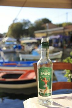 Mini ouzo, Lesvos island Greece