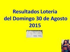 Resultados Sorteo Domingo 30 de Agosto 2015 Loteria Nacional de Panama Dominical