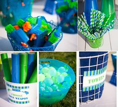 Water Gun Party for Summer or a Kids Birthday - FUN! Add some red, white, & blue 4 the of July! Kids Water Party, Water Gun Party, Water Birthday Parties, Summer Birthday, 10th Birthday, Birthday Fun, Birthday Ideas, Pool Parties, Summer Parties