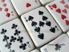Playing Card cookies by Emma's Sweets