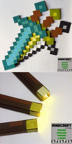 Simple DIY Party Crafts for Kids | DIY Mine Craft Party by DIY Ready at http://diyready.com/best-kids-party-ideas/