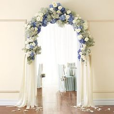 decorated wedding archs in shades of blue - Google Search