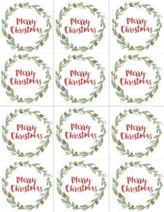 Hand Painted Gift Tags FREE Printable | PRINTABLES | Pinterest ...