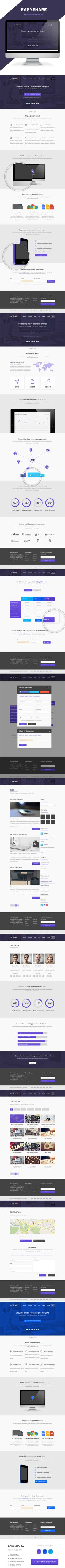 Easyshare - Filesharing PSD Template by Patrick, via Behance