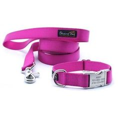 Dog Collar With Personalized Buckle - Rippin' Raspberry | PupLife Dog Supplies