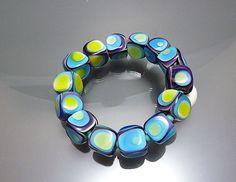 Melanie Moertel Lampwork Beads  Green purple and by melaniemoertel, $210.00