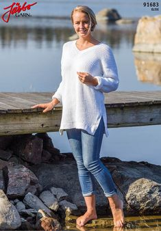 Lovely summer sweater in our soft cotton blend Elise.