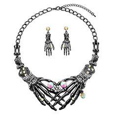 Halloween Earrings Necklace Set - Skull Skeleton Hand Got... https://www.amazon.com/dp/B01LX5ZIRS/ref=cm_sw_r_pi_dp_x_5t--zbCH7MEWR