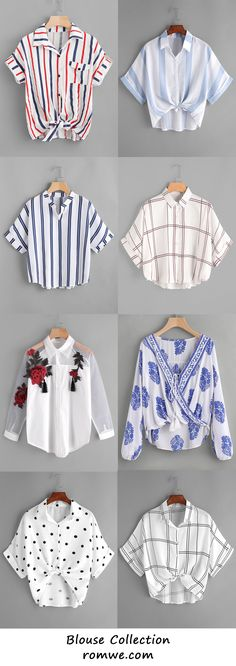 Pretty & Chic Blouses Collection - romwe.com
