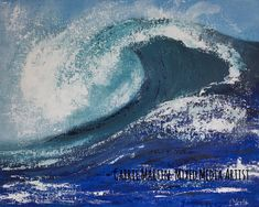 Items similar to Ocean wave painting original canvas on Etsy Horse Pictures, Great Pictures, Ocean Wave Painting, Original Art, Original Paintings, Popular Hobbies, Colorful Animals, Shape And Form, Ocean Waves