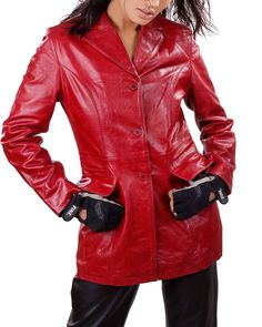 #Morica #womens #Leatherjackets  #maritimeleather Morica Womens Leather Jackets. This is a Nice Style Womens Red Leather Jacket made with Lamb  Semi aniline  Soft and Supple Leather.      100% Genuine Leather     Lambskin leather     Front Button closure    Two Flap Pockets     Fully lined     Dry clean by leather specialist