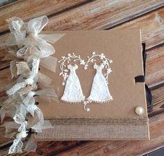 Gorgeous Album/ Guestbook Gay Wedding TWO BRIDES rustic Hessian,Burlap, Twine  | eBay Faux Flowers, Silk Flowers, Hessian, Burlap, Wedding Guest Book, Wedding Day, Two Brides, Guestbook, Buttonholes