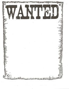 Party - Western theme - Wanted Poster