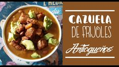 CAZUELA DE FRIJOLES ANTIOQUEÑOS | RECETA COLOMBIANA - YouTube My Colombian Recipes, Colombian Food, Appetizers, Food And Drink, Cooking Recipes, Pasta, Beef, Breakfast, Desserts