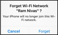 Do you want to forget WI-FI network from your iOS device? Well this post will help you to accomplish this goal.