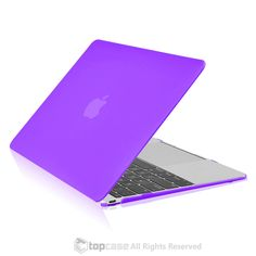 """Apple the New Macbook 12-Inch 12"""""""" Retina Display Laptop Computer Purple Rubberized Hard Shell Case Cover for Model A1534 (Newest Version 2015)"""