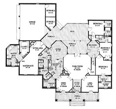 1000 images about floor plans on pinterest floor plans for One story greek revival house plans