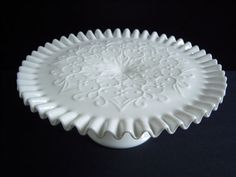 White on White by Lauren and Darlene Alford on Etsy Milk Glass Cake Stand, Vintage Cake Stands, Southern Charm, Pie Dish, Special Day, Wedding Table, White Lace, Spanish, Romantic