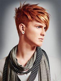 Red Hair Men, Long Red Hair, Mens Hair Colour, Cool Hair Color, Creative Hairstyles, Cool Hairstyles, Guys Grooming, Beard Styles, Hair Styles