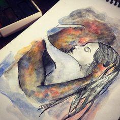 ⋅ El dulce néctar ⋅ ❤️❤️❤️ #watercolor