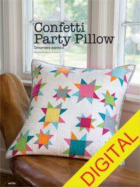 Confetti Party Pillow Digital Pattern from ShopFonsandPorter.com
