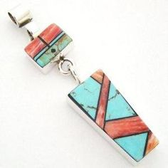 Sun Face Pendant Spiny Oyster Turquoise Intarsia Inlay Native American Silver Jewelry Marilyn Yazzie