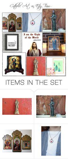 """Religious Art on Etsy by TerryTiles2014 - Volume 397"" by terrytiles2014 on Polyvore featuring arte, etsy, art, catholic e religious"