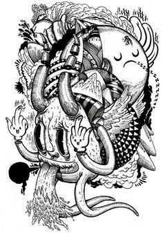 ilustraciones blanco y negro - Buscar con Google