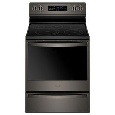 Whirlpool 6.4 cu. ft. Electric Range with Self-Cleaning Fan Convection Oven in Black Stain... | The Home Depot Canada