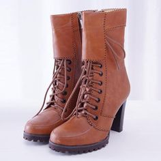 45SEVEN  Lace-Up High Heel Boots