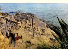 Travel and Lifestyle Diaries Blog: Grumpy at Agios Thomas Beach in Kefalonia, Greece