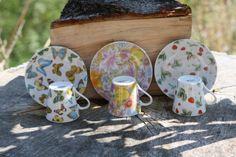 Royal England Tea Cup Tea Cup Butterfly Tea Cup Flower by Diamir Coffee Cups, Tea Cups, Strawberry Tea, Flower Tea, My Etsy Shop, England, Butterfly, Plates, Tableware