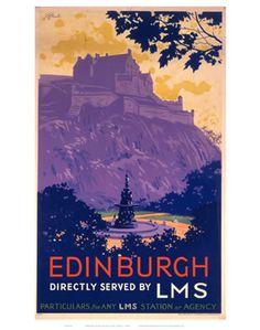 Edinburgh vintage poster