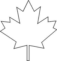 Free Stencils - maple leaf