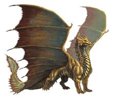 Azure's gold dragons are shaped more like the Brass dragon (from the D&D fifth edition Monster Manual). Add brilliant gold scales and hints of iridescence and voila, perfect.