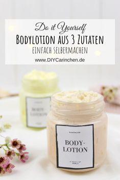 DIY - Bodylotion aus nur 3 Zutaten einfach und schnell selber machen Homemade Beauty, Diy Beauty, Diy Shampoo, Diy Fluffy Slime, Diy Lotion, Organic Brand, Diy Scrub, Diy Slime, Body Makeup
